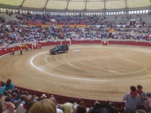 toros pontevedra arreglando la arena peregrina 2011