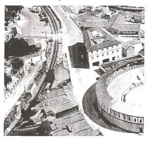 Paso a nivel del Campo de San Roque.Pontevedra año 1940-50