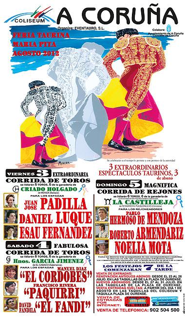 Cartel anunciador de la Feria de La Coruña 2012