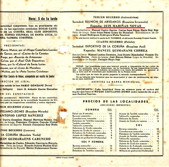 19 Junio 1949 La Coruña