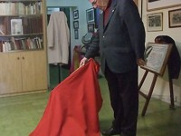 D. Luis Mariñas en la sede de la peña taurina de La Coruña