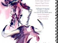 """Cartel obra del maestro David Campos. Homenaje a Vicente Yangüez """"El Chano"""""""