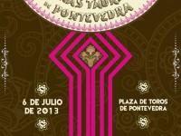 Cartel de la Xuntanza de peñas taurinas de pontevedra2013