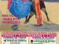 Cartel de la feria taurina de Coruña 2013