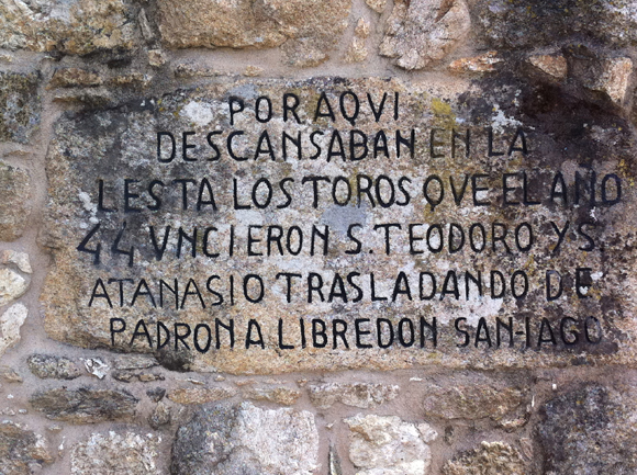 Inscripción Santiago Apostol