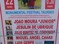 Cartel de la corrida en Sarria 2014