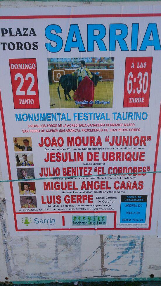 cartel sarria 2014