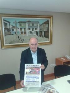 Eduardo Lozano presentando el cartel Peregrina 2014