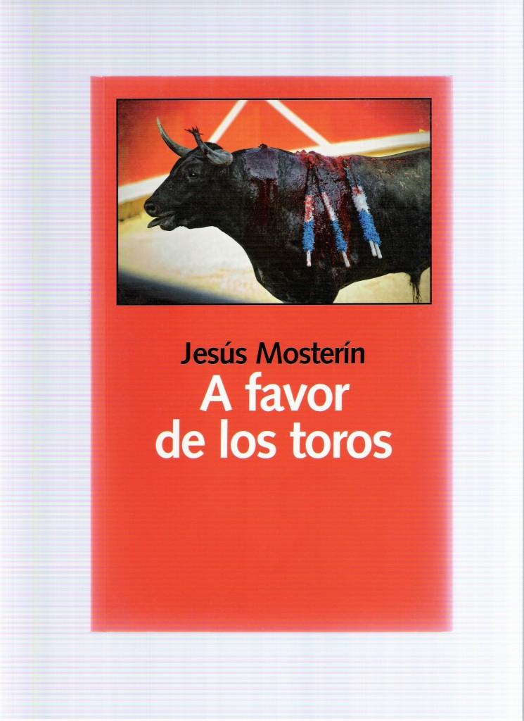 Portada del libro A FAVOR DE LOS TOROS